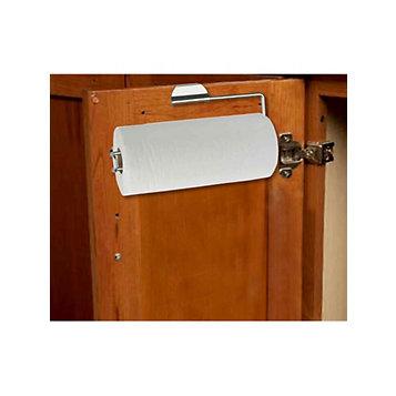 Haband Home Basics Satin Nickel Over The Door Paper Towel Holder