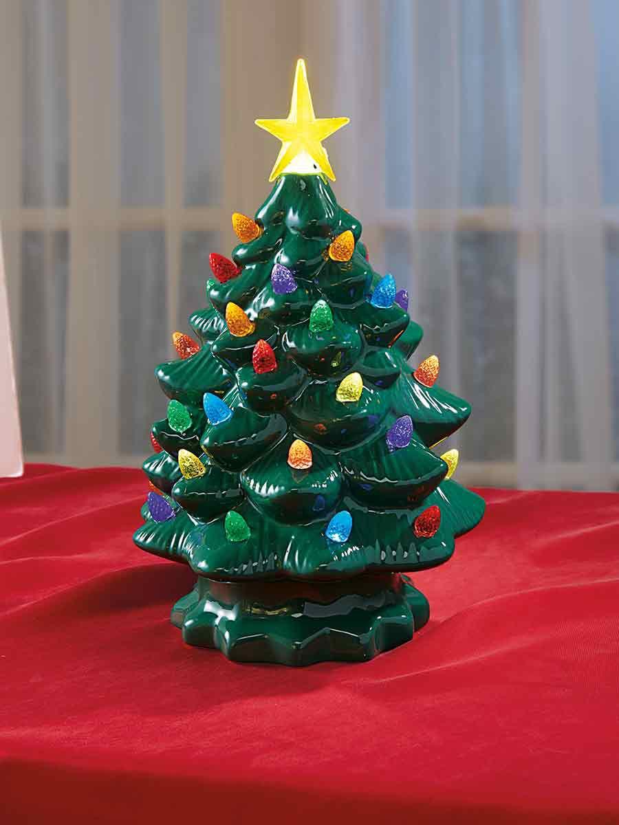 Ceramic Christmas Tree.Ceramic Light Up Tree