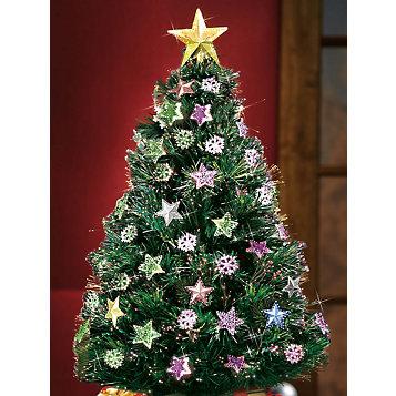 fiber optic rotating christmas tree