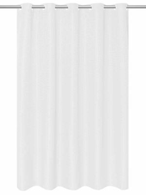 Pre Hooked Fabric Shower Curtain