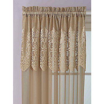 Haband Valerie Lace Pole Top Panel With Attached Valance 1 Panel