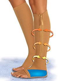 Open Toe Gel Zipper Socks