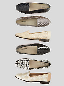Liz Leather Woven Loafers by Trotters®