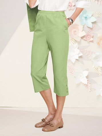 Classic Comfort® Pull-On Capris - Image 1 of 14