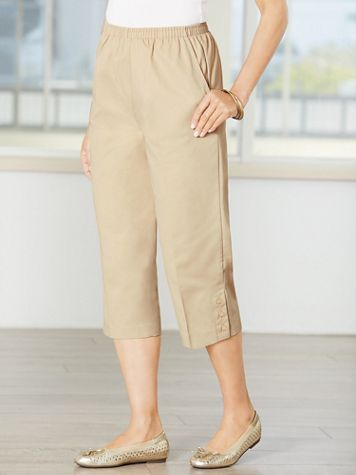 Classic Comfort® Pull-On Capris - Image 1 of 12