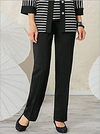 Metro Weave Flat-front Pants