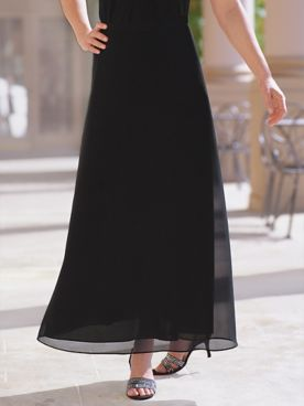 Georgette Evening Skirt