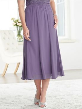 Chiffon Tea Length Skirt by Alex Evenings