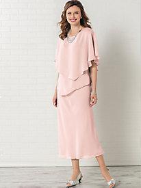 Bias Tiered Two-Piece Dress