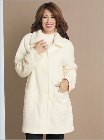Brownstone Studio® Fleece Long Sleeve Topper Coat