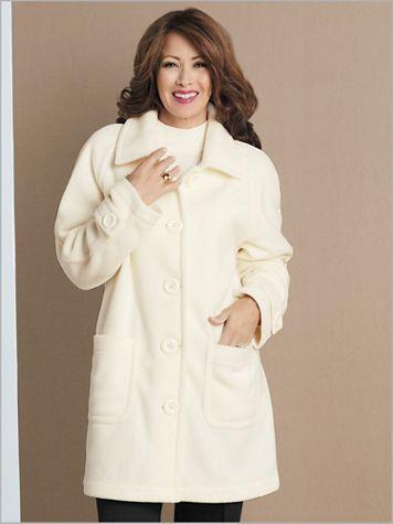 Brownstone Studio® Fleece Long Sleeve Topper Coat - Image 1 of 5