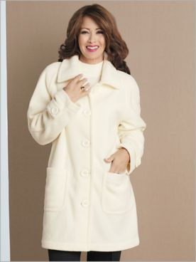 Brownstone Studio® Fleece Long Sleeve Topper Coat