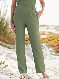 Pucker Up Pull-on Pants
