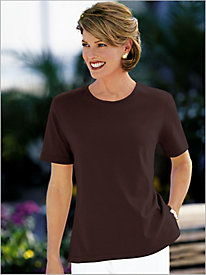 Essential Short Sleeve Jewel Neck Tee