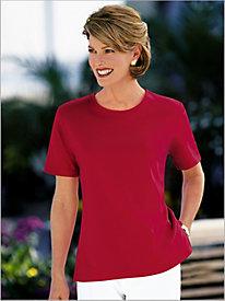 Essential Short Sleeve Jewel Neck Tee