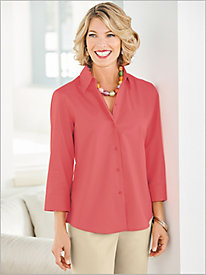 Wrinkle-Free Solid Shirt by Foxcroft