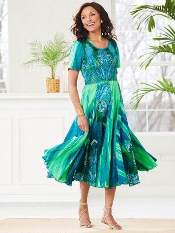 Jade Treasure Smocked Dress - Image 0 of 2