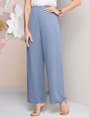 Alex Evenings Special Occasion Chiffon Pull-On Pants - Image 1 of 3