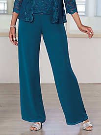 Chiffon Pull-on Pants by Alex Evenings