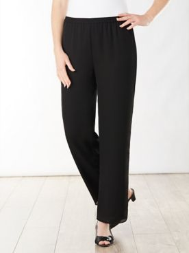 Special Occasion Georgette Slim Leg Pull-On Pants