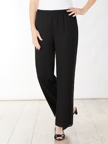 Special Occasion Georgette Slim Leg Pull-On Pants - Image 4 of 4