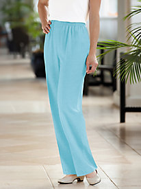 Look-Of-Linen Flat Front Pull-on Pants
