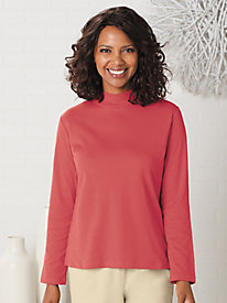 Essential Long Sleeve Mock Neck Tee