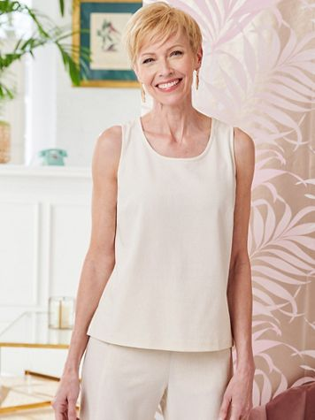 Look-Of-Linen Tank Top