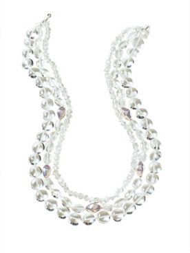 Multi Row Quartz Necklace