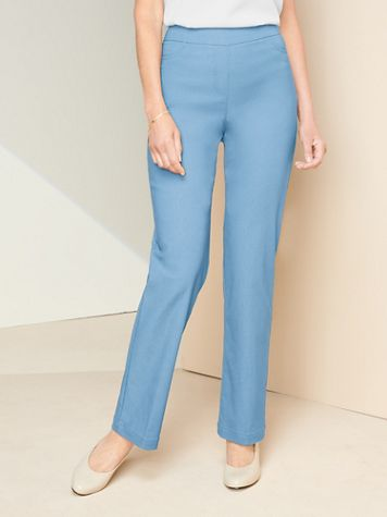 Slimtacular® Straight Leg Pull-On Pants - Image 1 of 23