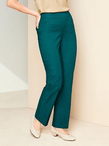 Slimtacular® Straight Leg Pull-On Pants - Image 1 of 11