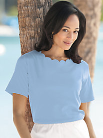 Scalloped Trim Tee