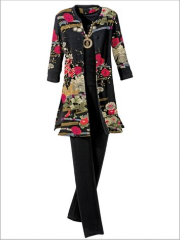 Asian Garden Duster & Signature Knits® Separates