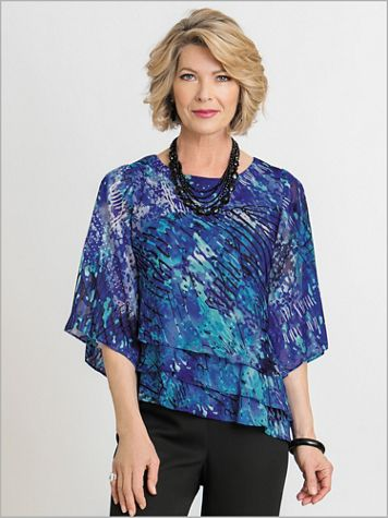 Alex Evenings Tiered Delight Special Occasion Top - Image 1 of 2