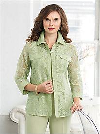 Glitter Garden Burnout Big Shirt