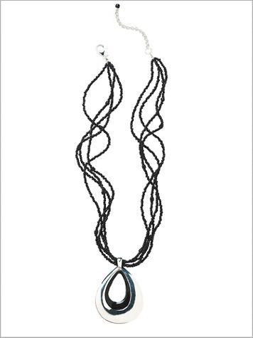Epoxy Teardrop Necklace - Image 2 of 2