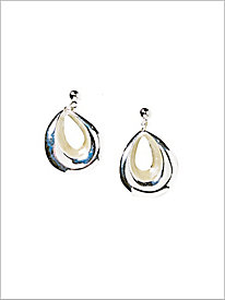 Epoxy Teardrop Clip Earrings