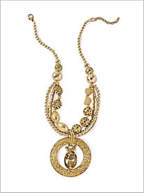 Gold Frost Pendant Necklace
