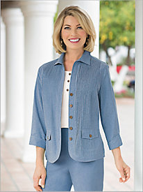 Chic Chambray Jacket