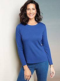 Essential Long Sleeve Jewel Neck Tee