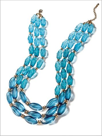 Ombre Tri Row Necklace - Image 2 of 2