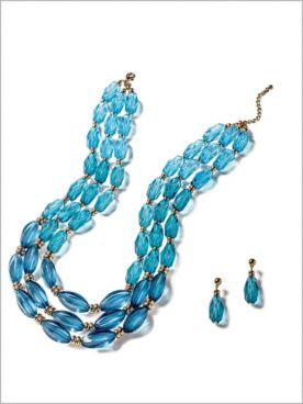 Ombre Tri Row Jewelry