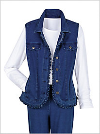 Comfort Knit Denim Vest