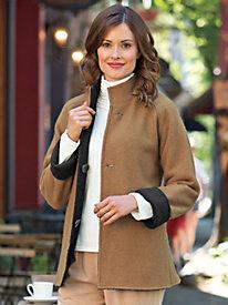 Women's Reversible Boiled Wool Jacket