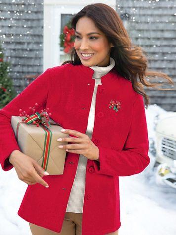 Women's Boiled Wool Jacket - Image 1 of 4