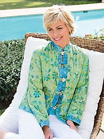 Women's Reversible Batik Quilted Jacket