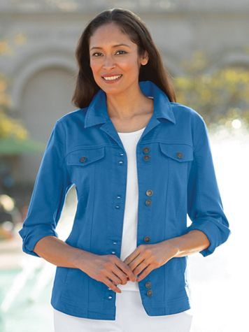 Women's Colored Denim Jacket