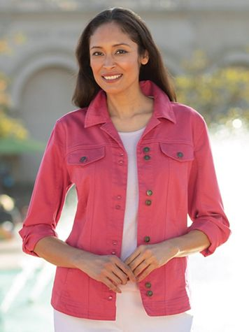 Women's Colored Denim Jacket - Image 1 of 1