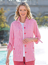 Women's Crinkle Check Jacket