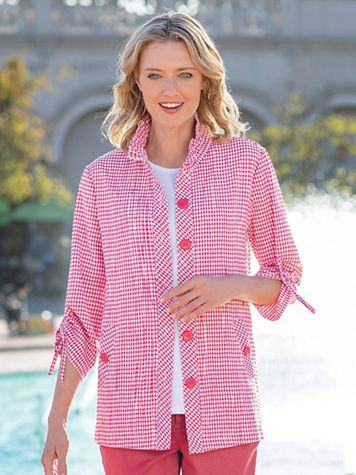 Women's Crinkle Check Jacket - Image 5 of 7